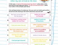 Past perfect: matching halves of sentences worksheet