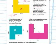 Perimeter and area of compound shapes worksheet