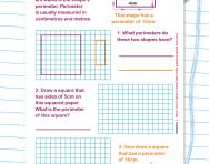 Perimeter explained worksheet