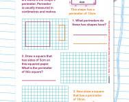 Perimeter explained worksheet