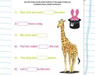 Phase 2 phonics missing tricky words