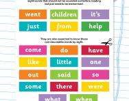 Phase 4 phonics tricky words practice worksheet
