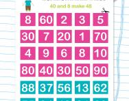 Place value matching cards worksheet