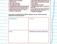 Planning paragraphs worksheet