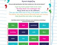 Possessive apostrophes worksheet