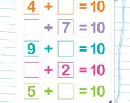 Practise number bonds to 10 worksheet