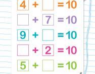 Practise number bonds to 10 worksheet