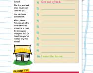 Practise writing instructions worksheet