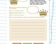 Practise writing speech