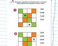 Prepositions x-words