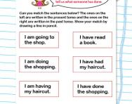 Present tense and past tense worksheet