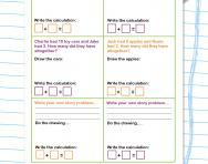 Problem solving: addition worksheet