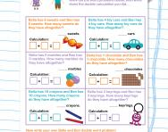 Problem solving: doubles worksheet