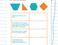 Properties of 2D shapes worksheet