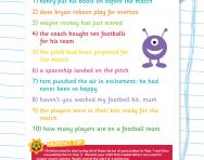 Punctuating sentences football worksheet