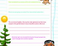 Punctuation practice worksheet