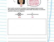 Putting together a circuit worksheet