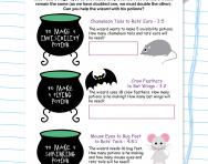 Ratio potion problems worksheet