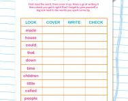 Reading and spelling high frequency words worksheet
