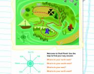 Reading compass directions worksheet