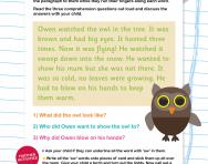Reading comprehension: the /ow/ sound (Phase 3 phonics)