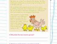 Reading comprehension: THE HEN AND THE RUBY