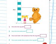 Reading measurements: length worksheet