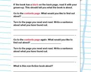 Reading non-fiction books worksheet