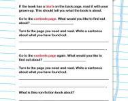 Reading non-fiction books worksheet