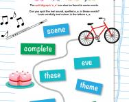 Reading split digraph 'e_e' words worksheet