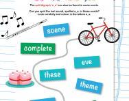 Reading split digraph 'e_e' words worksheet