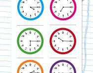 Reading the time: quarter past worksheet