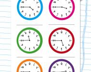 Reading the time: quarter to the hour worksheet