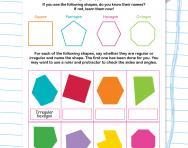 Regular and irregular polygons worksheet