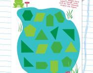 Regular and irregular shapes puzzle