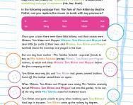 Replacing nouns with pronouns worksheet
