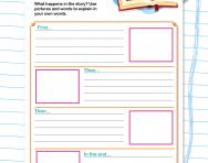 Retelling a story worksheet