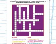 Revising poetic language crossword