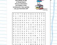 Roald Dahl wordsearch