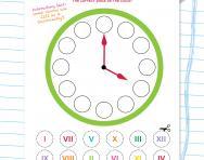 Roman numerals clock face