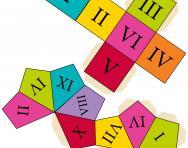 Roman numerals dice