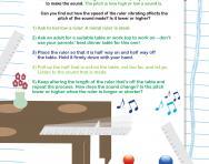 Ruler noises worksheet