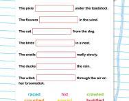 Selecting interesting verbs worksheet