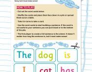 Sentence scramble game
