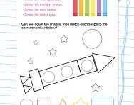 Shape count and colour