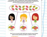 Sharing method for division worksheet