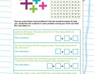Simple addition word problems worksheet