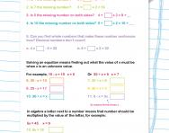 Simple algebra problems worksheet