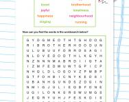 Simple suffix wordsearch