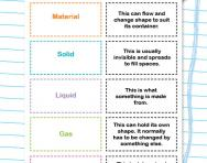 Solids, liquids and gases worksheet